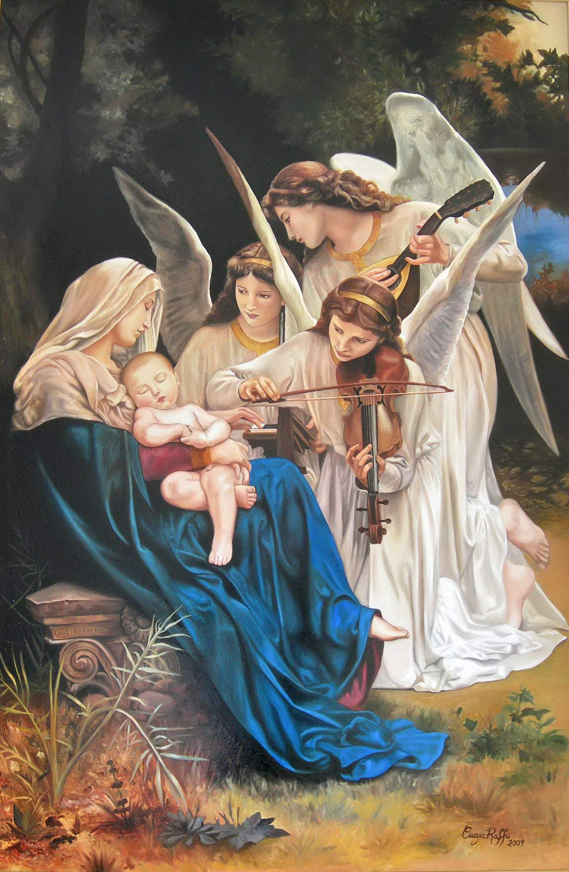 La canzone degli angeli omaggio a bouguereau cinzia for Quadri con angeli