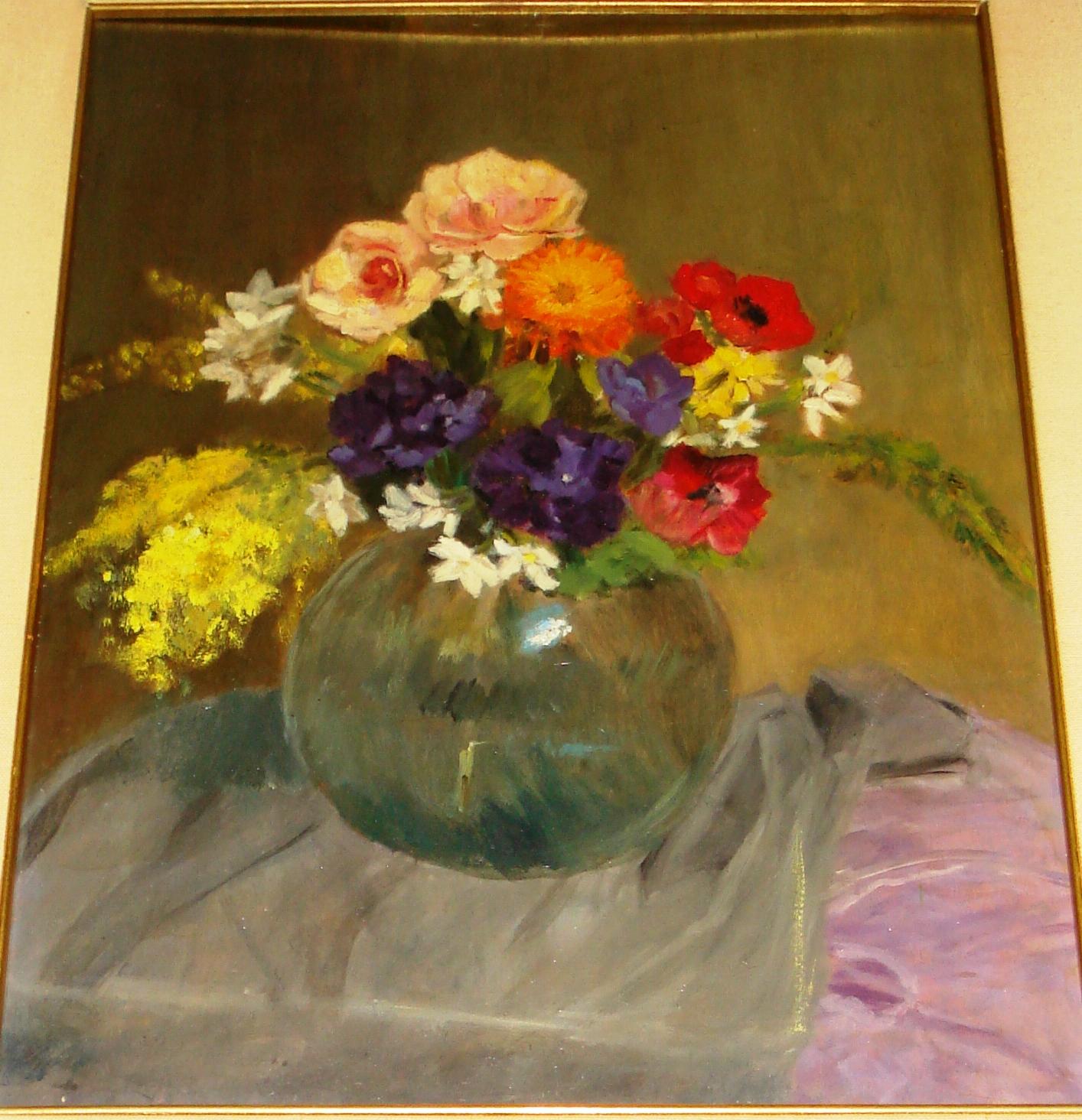 Clara boriosi mimosa e rose in un vaso verde for Mimosa in vaso