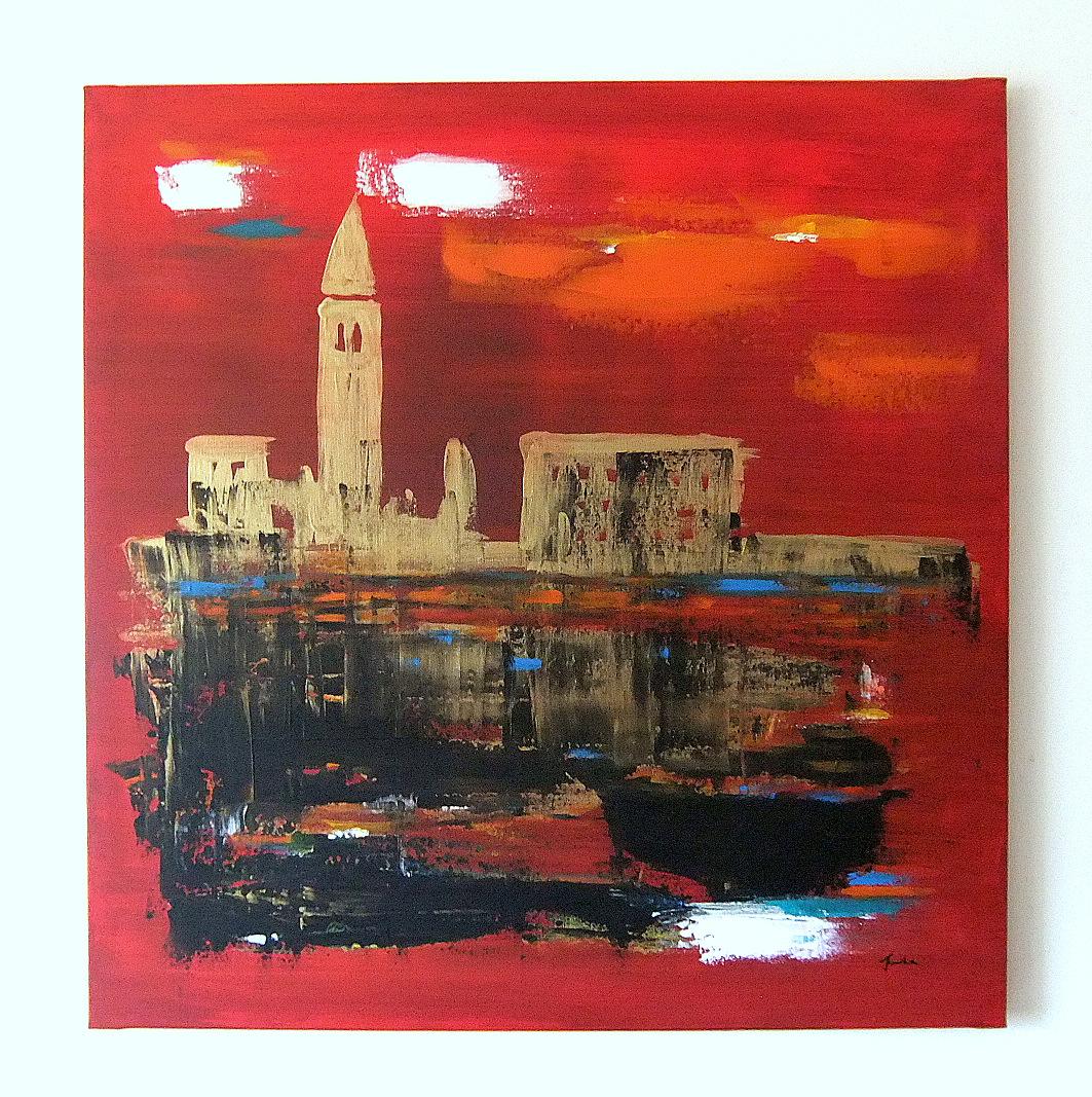 Quadri astratti moderni venezia astratto sanader art for Dipinti figurativi moderni