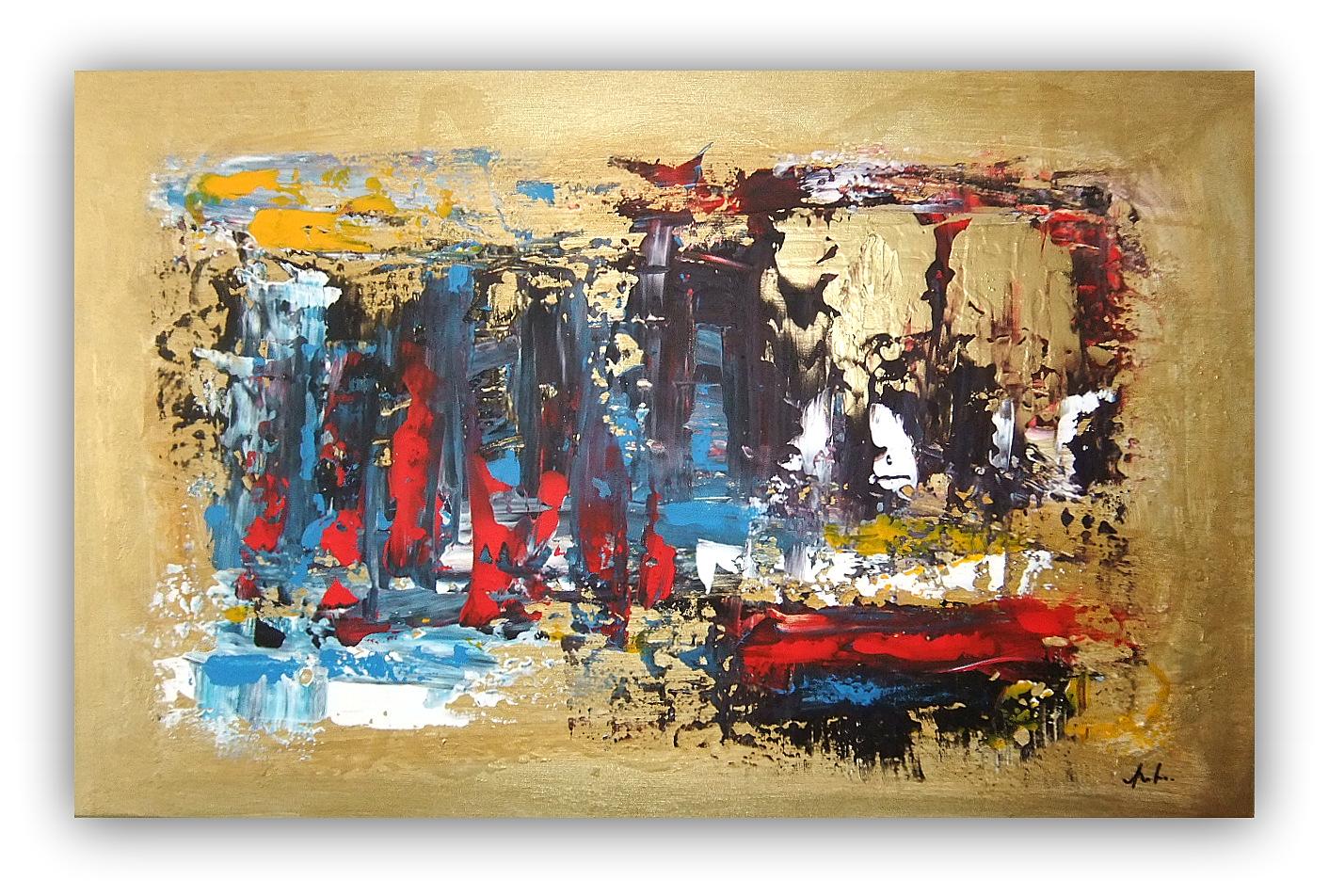 Quadri astratti moderni astratto moderno sanader art for Dipinti a mano moderni