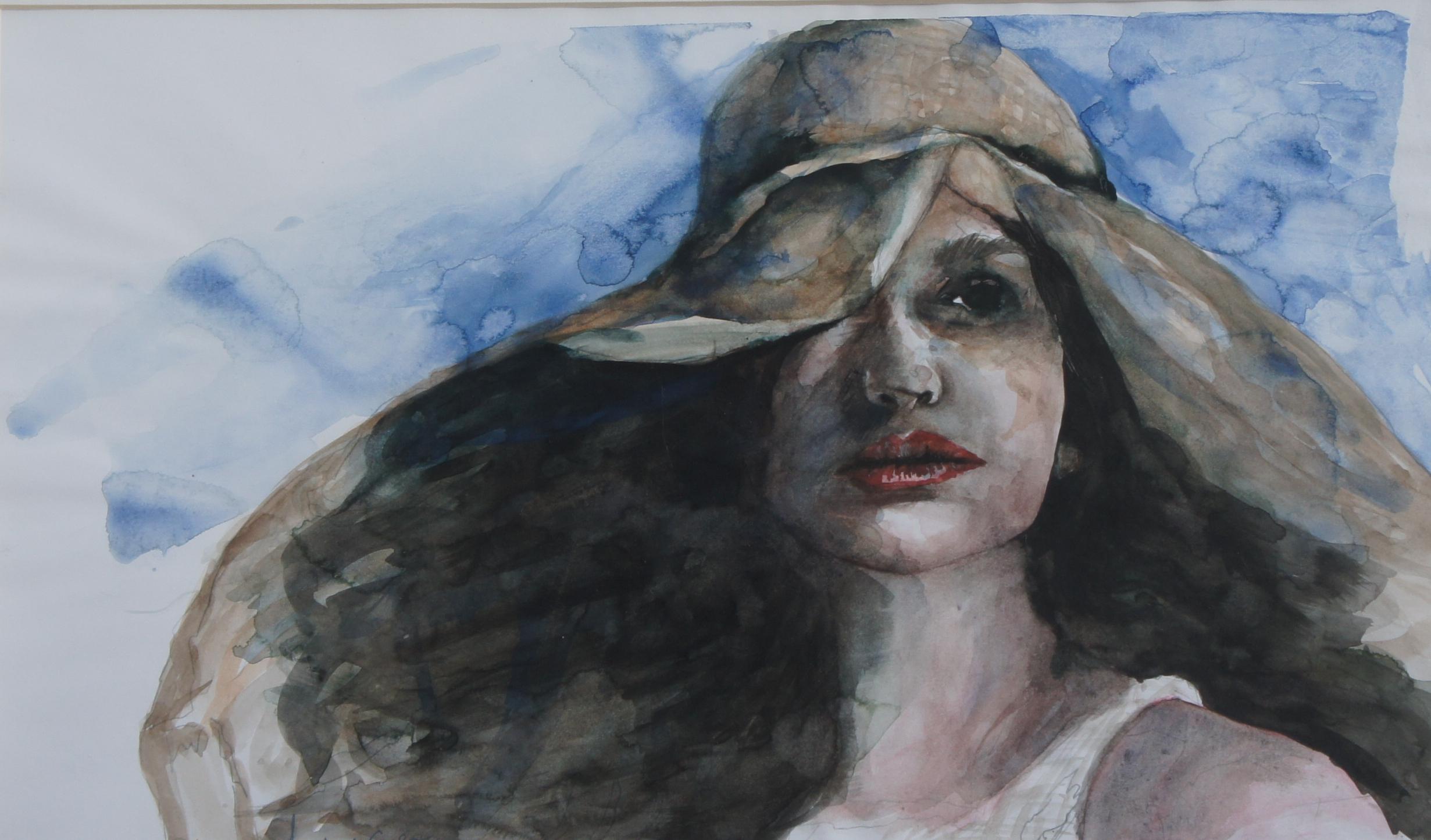 donna con cappello - carla scudieri - Opera Celeste Network