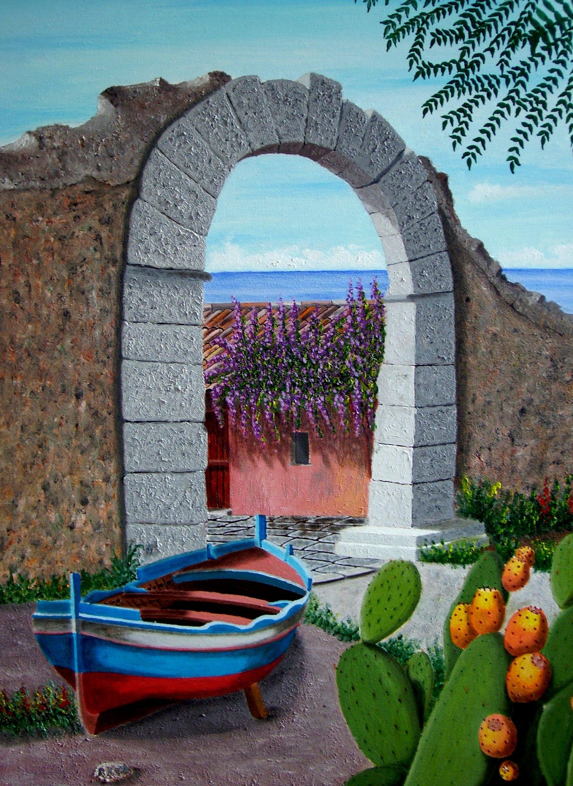 Paesaggio siciliano damiano premio celeste 2009 for Disegni da colorare paesaggi marini