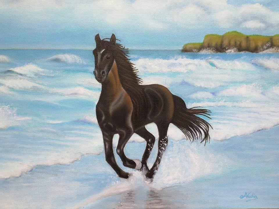 Cavallo al mare - Nino Audia - Opera Celeste Network