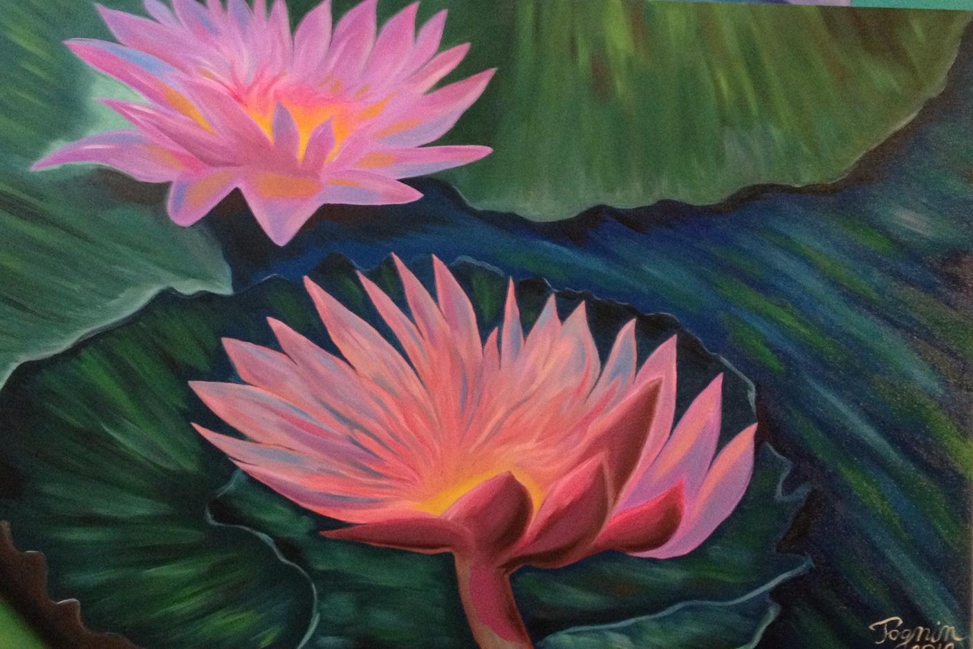Fiori di loto alessandro tognin opera celeste network for Quadri a olio fiori