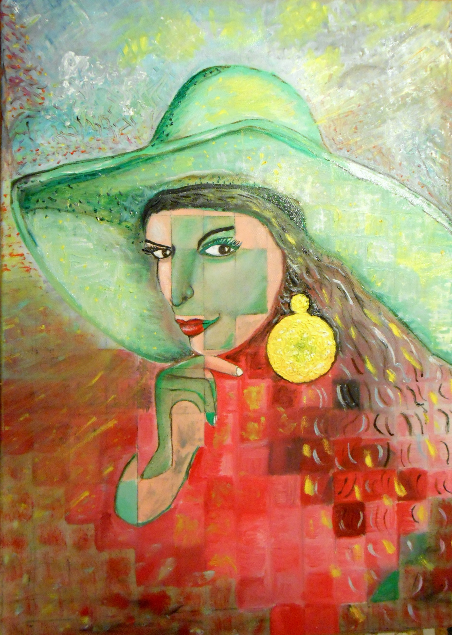 donna con cappello - anetamalinowskaART - Opera Celeste Network