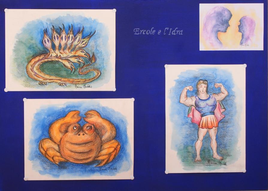 """Illustrazioni di Marina Marchetti per il libro di favole di Sergio Gnudi """"La mamma racconta gli eroi"""