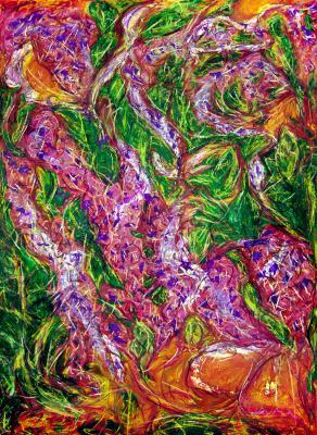 Amidst wisteria