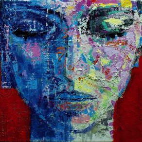 Fabio Modica | Gnosis: Composure - mixed media on canvas - cm 95x95 | 37,5x37,5 inches - 2014 | Private Collection - Malibù - USA