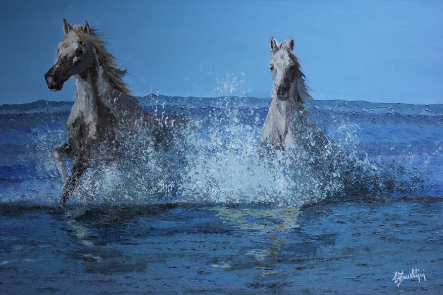 Bianchi nel mare