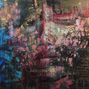 Fabio Modica | Persefone Kore - mixed media on canvas - cm 265x198 | 104,3x78 inches - 2014 | Mandarin Oriental - Atlanta - USA