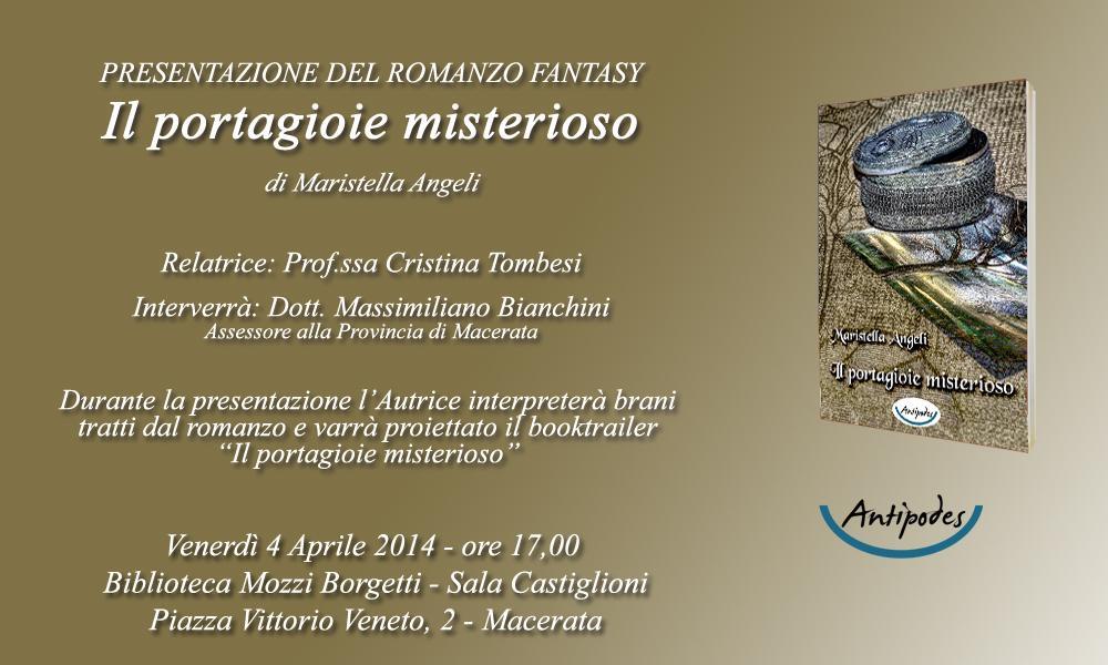 """Presentazione: """"Il portagioie misterioso"""" di Maristella Angeli"""