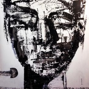 Fabio Modica - Gnosis: Peace II - mixed media on canvas - 59x59 inches