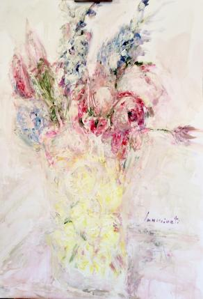 Vaso di fiori con limoni