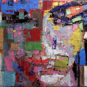 Fabio Modica | Prisoner of matter - mixed media on canvas - cm 86x71 | 34x28 inches - Aberson Exhibits - USA