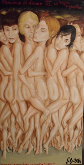 Passione di donne II - Donne minute accordatesi per incontro privato - Sogno orgiastico