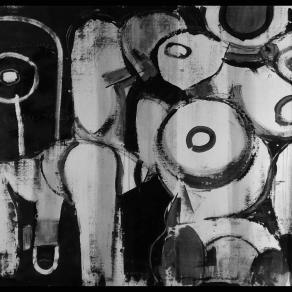 Fabio Modica - Mercification VI - mixed media on canvas - 59x50 inches