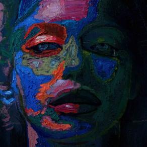 Fabio Modica | Marylin - mixed media on canvas - cm 165x100 | 63x47,2 inches - Bill Lowe Gallery - USA