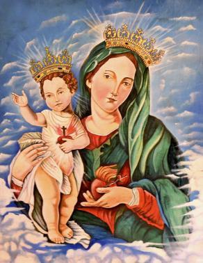 Nuova opera 2014 Madonna Del Sacro Cuore Di Gesù La Madonna ci benedica sempre e ci segua ovunque.