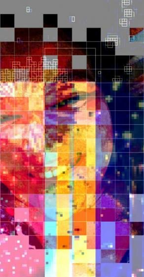 Self portrait of kiki jaguaribe and fireworks