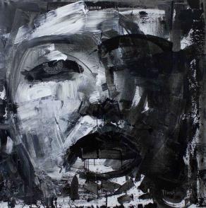 Fabio Modica | Marylin - mixed media on canvas - cm 150x150 | 59x59 inches | Aberson Exhibits - USA