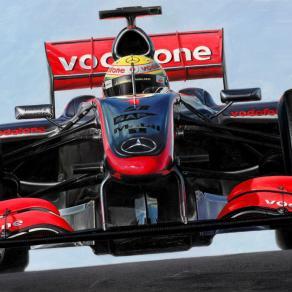 Lewis Hamilton on McLaren-Mercedes MP4/24